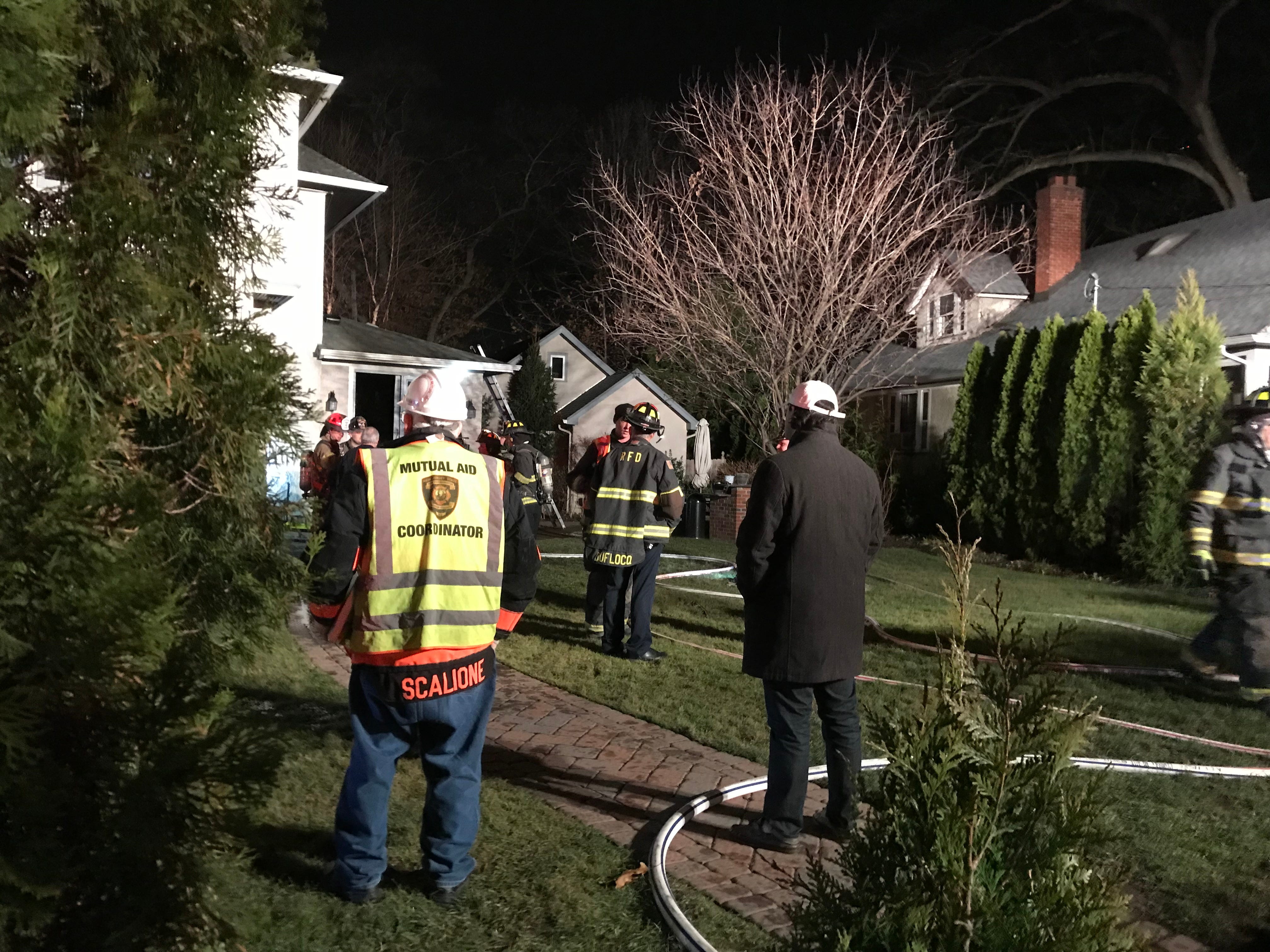 Firefighters respond to Maple Avenue in Glen Rock for a house fire Dec. 6, 2018.