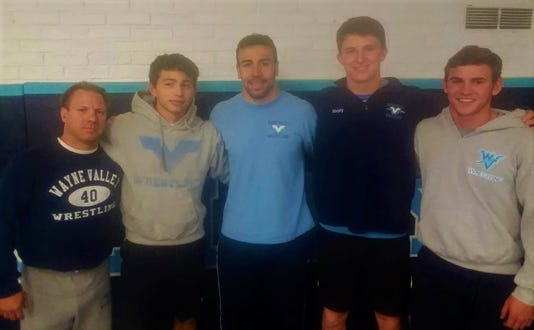 Wayne Valley wrestling captains