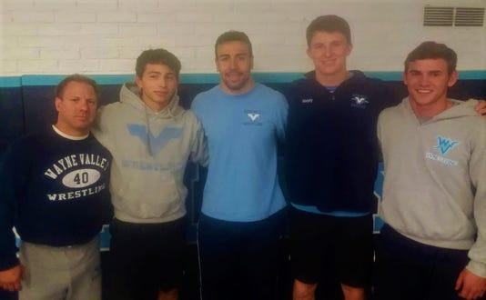 Wayne Valley wrestling captains