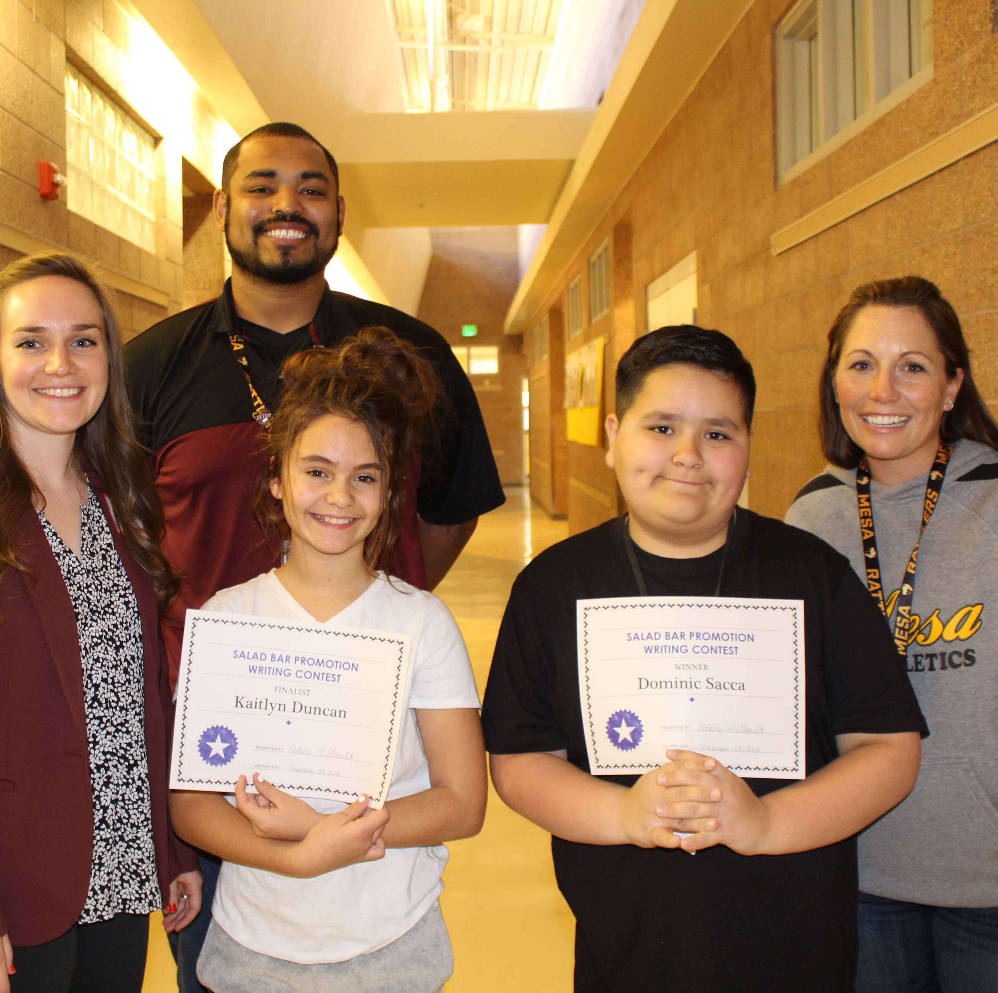 Las Cruces Public Schools salad bar contest winners announced