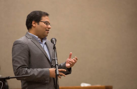 "Satyajayant ""Jay"" Misra, associate professor at New Mexico State University, discusses some of the details of the bachelor's degree in cybersecurity proposed at the final NMSU regents meeting of the semester, Friday, Dec. 7, 2018."