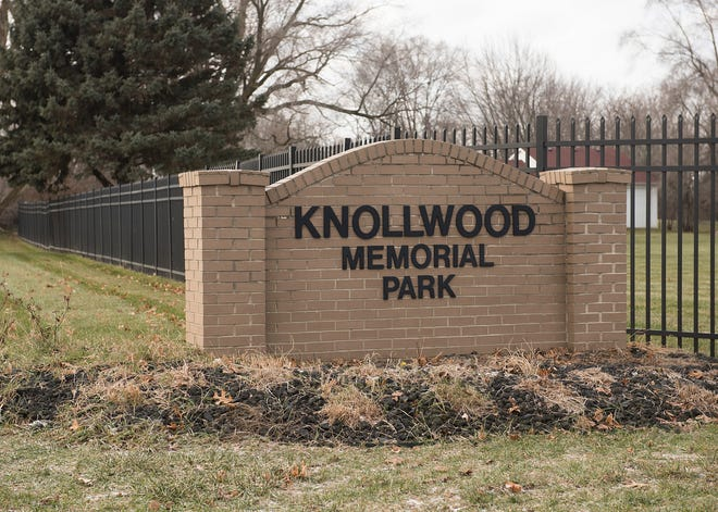 Knollwood Memorial Park is on Ridge Road south of Ford Road in Canton Township.