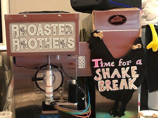 The milkshake machine.