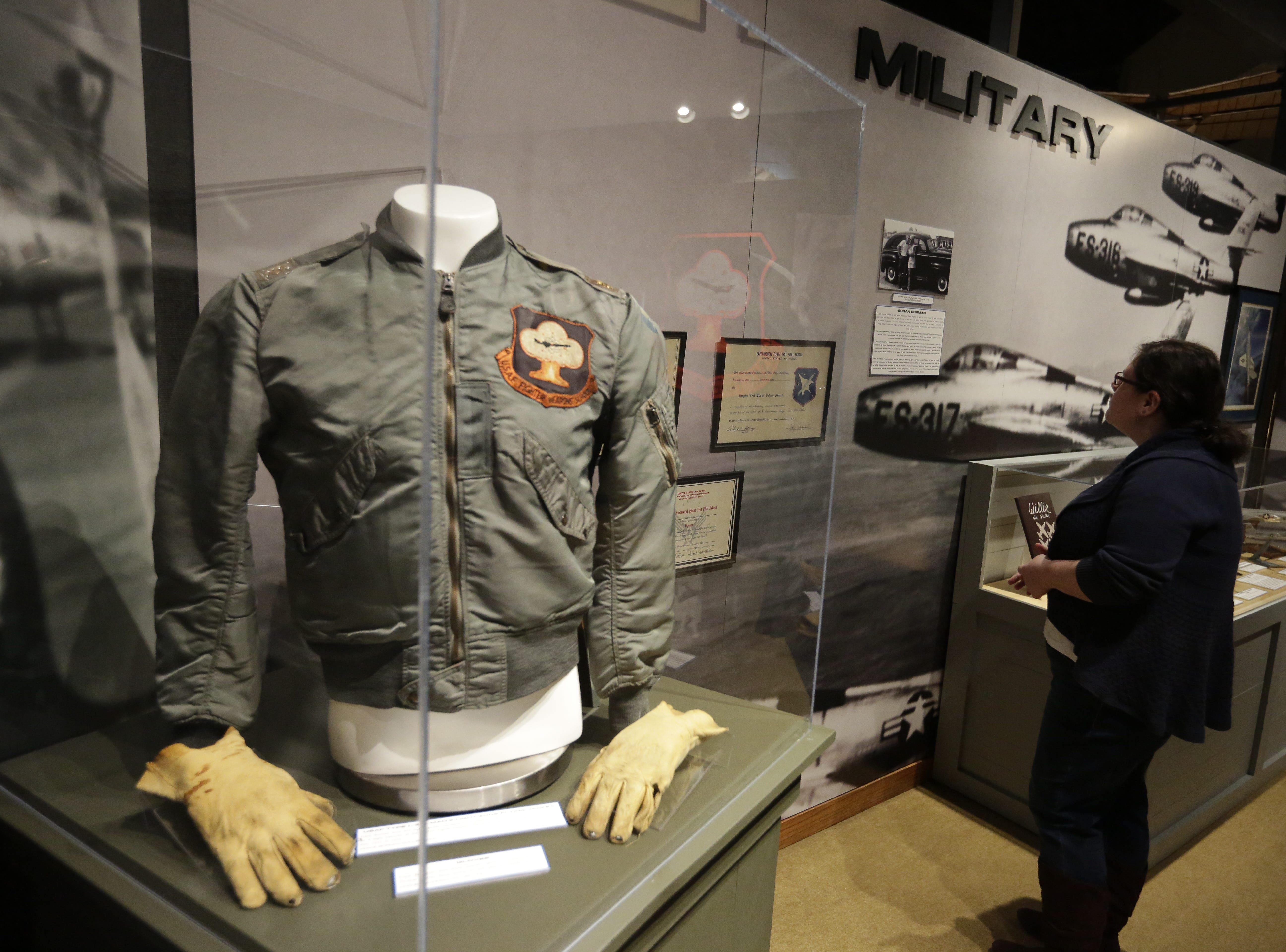 The EAA Aviation Museum in Oshkosh, Wis. has opened ÒThe Borman Collection: An EAA MemberÕs Space Odyssey,Ó an exhibit that features the personal archives and memorabilia of astronaut Frank Borman, who was on the leading edge of AmericaÕs space program through the 1960s. The new exhibit was formally opened with a ribbon cutting by Borman on Friday, December 7, 2018.Joe Sienkiewicz/USA Today NETWORK-Wisconsin