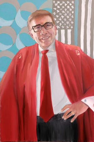 Palm Springs Mayor Robert Moon is one of 14 subjects in the Red Kimono II Project series from artist David Fairrington.