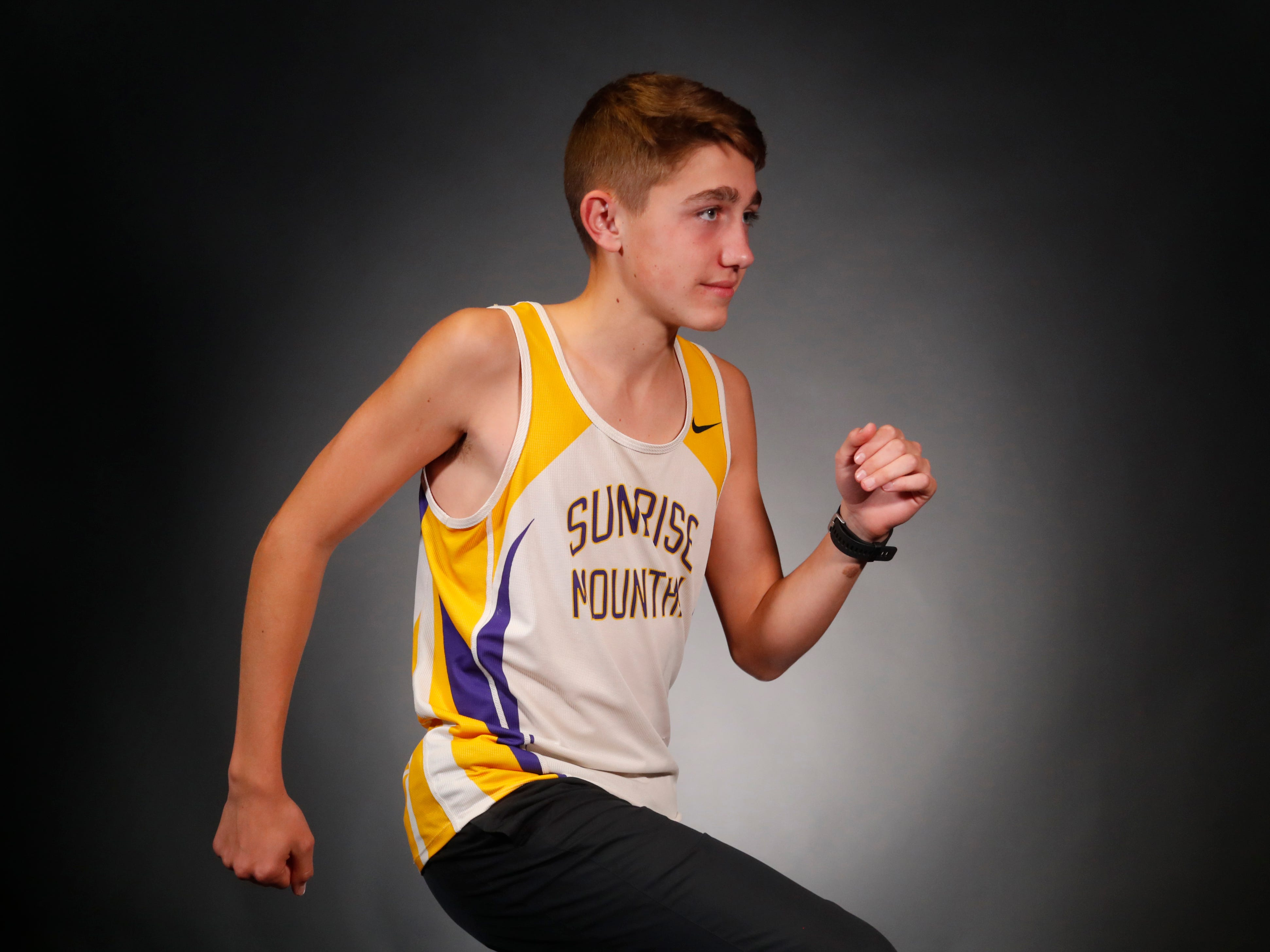 Braedon Palmer from Peorioa Sunrise Mountain is a nominee for azcentral Sports Awards High School Boys Cross Country Runner of the Year. #azcsportsawards