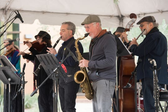The Rural Street Klezmer Band performs traditional music from Europe as well as Yiddish theater, Hanukkah and Israel dance music.