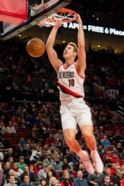 Trail Blazers forward Jake Layman had 24 points against the Suns on Thursday at the Moda Center.