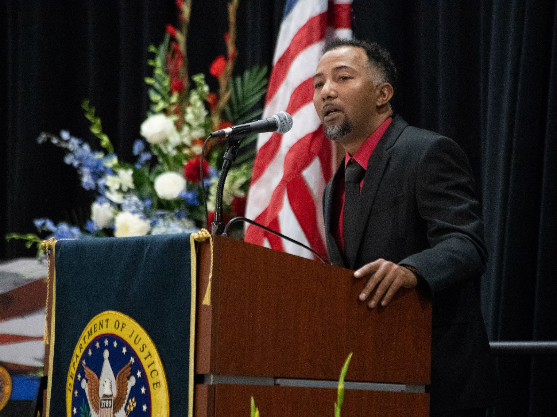 Nearly 2,000 people attended the Celebration of Life service at the Tucson Convention Center Dec. 7, 2018, for Deputy U.S. Marshal Chase White, 41, who was killed in the line of duty while executing a felony arrest warrant Nov. 29 in north Tucson.