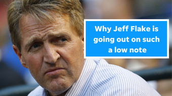 Retiring U.S. Sen. Jeff Flake leaves office wildly unpopular, and columnist Robert Robb explains why.