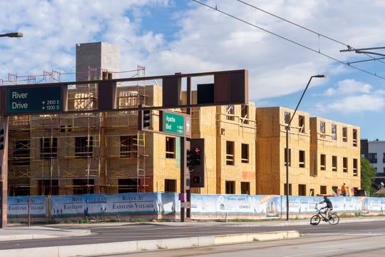 Besides new student housing, developers are building for people who want to live and work in the centrally-located area along Tempe's Apache Boulevard near the McClintock Drive light-rail station.