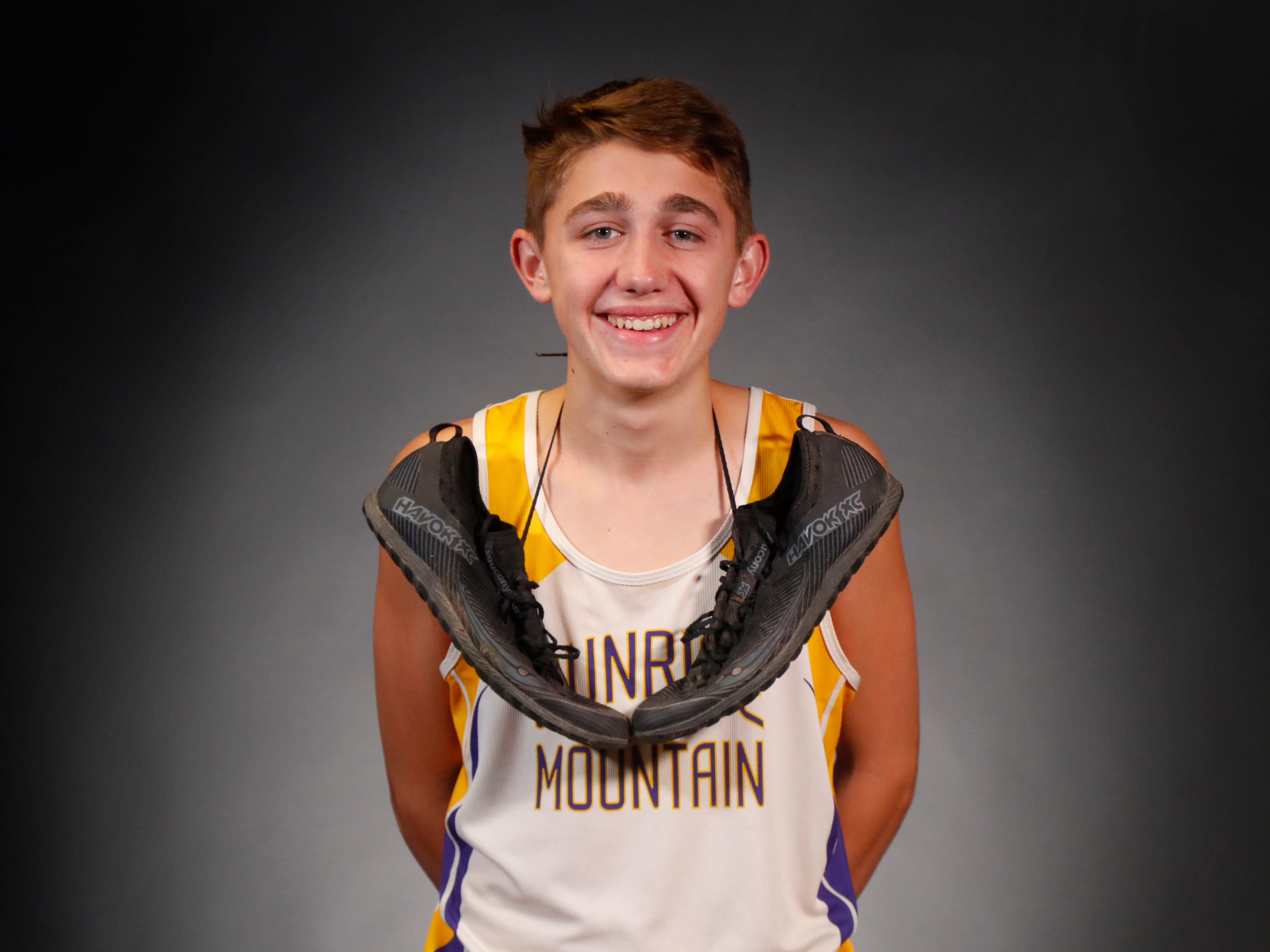 Braedon Palmer from Peoria Sunrise Mountain is a nominee for azcentral Sports Awards High School Boys Cross Country Runner of the Year. #azcsportsawards