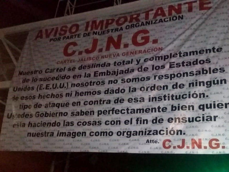 Cártel mexicano se deslinda de ataque a consulado de EEUU