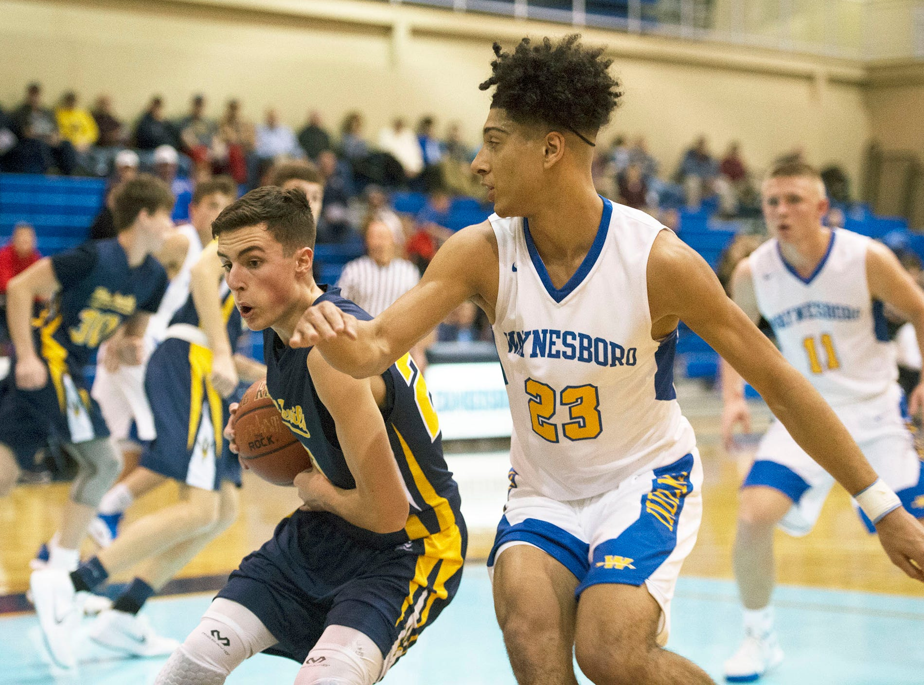 Waynesboro played Greencastle boys during the Franklin County Tip-Off Tournament, Friday, Dec. 7, 2018.