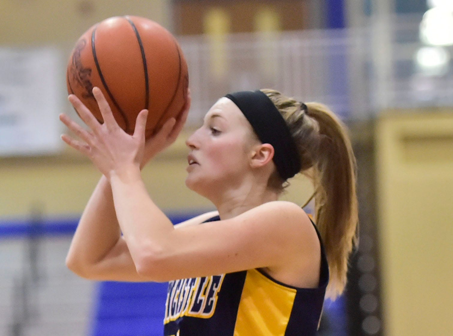 Waynesboro played Greencastle girls during the Franklin County Tip-Off Tournament, Friday, Dec. 7, 2018.