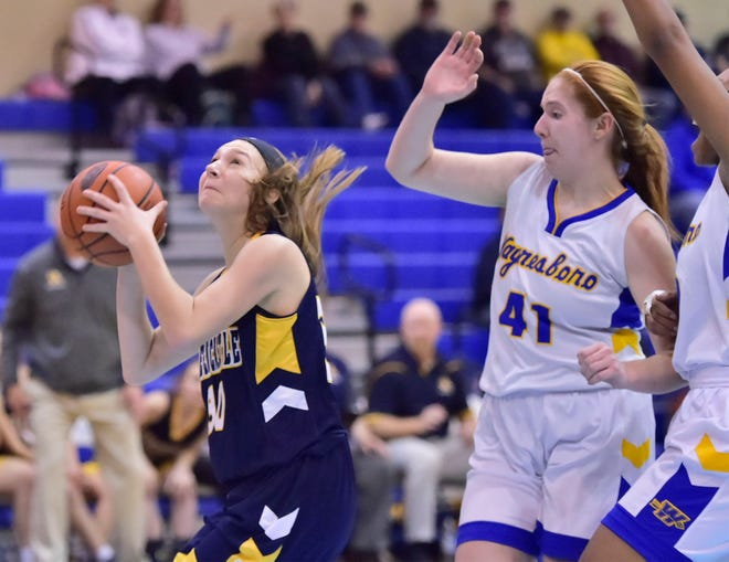 Lauren Pool (30, left) returns for a strong Greencastle team this season that looks to make a run to Districts once again.