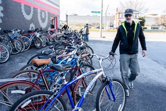 For the past five years, Gung Ho Bikes has been fixing up and donating bikes back to local charities and non-profits.