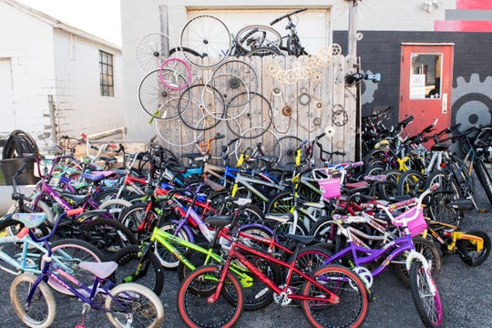 Roughly 150 bikes were fixed up and donated at Gung Ho Bikes fifth annual bike giveaway on Friday, Dec. 7, 2018. Local charities were given the option to chose from children's to adult road bikes.