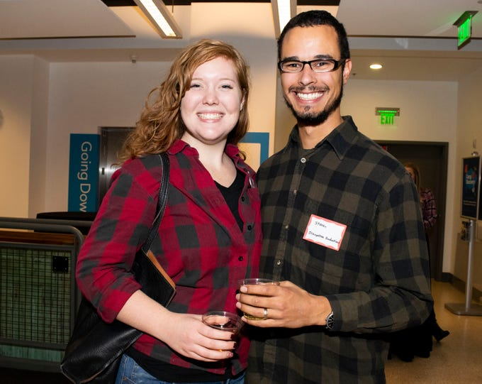Kristianna and Steven Tweyfort attend Mingle Bells 2018 at the Discovery Museum on Thursday, Dec. 6, 2018. Reno, Nev.