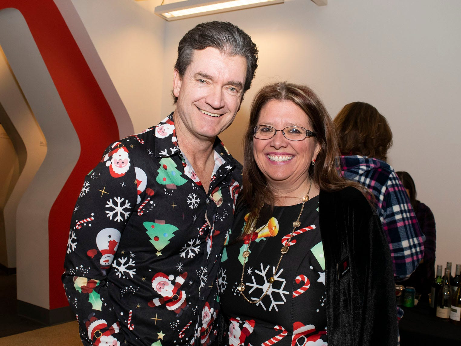 Clay Hall and Jackie Shelton attend Mingle Bells 2018 at the Discovery Museum on Thursday, Dec. 6, 2018. Reno, Nev.