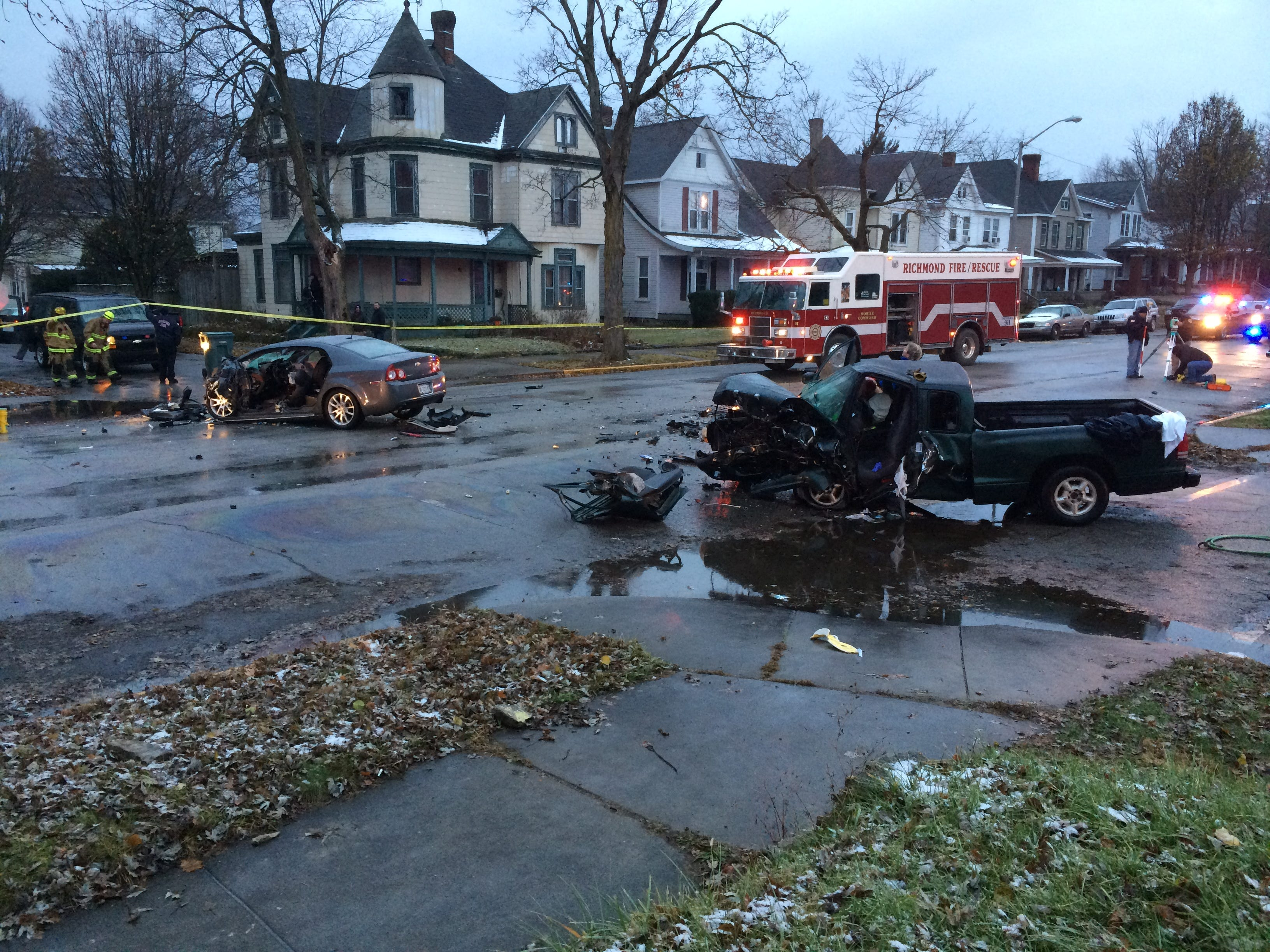 Two vehicles were involved in a Thursday afternoon accident on Richmond Avenue.