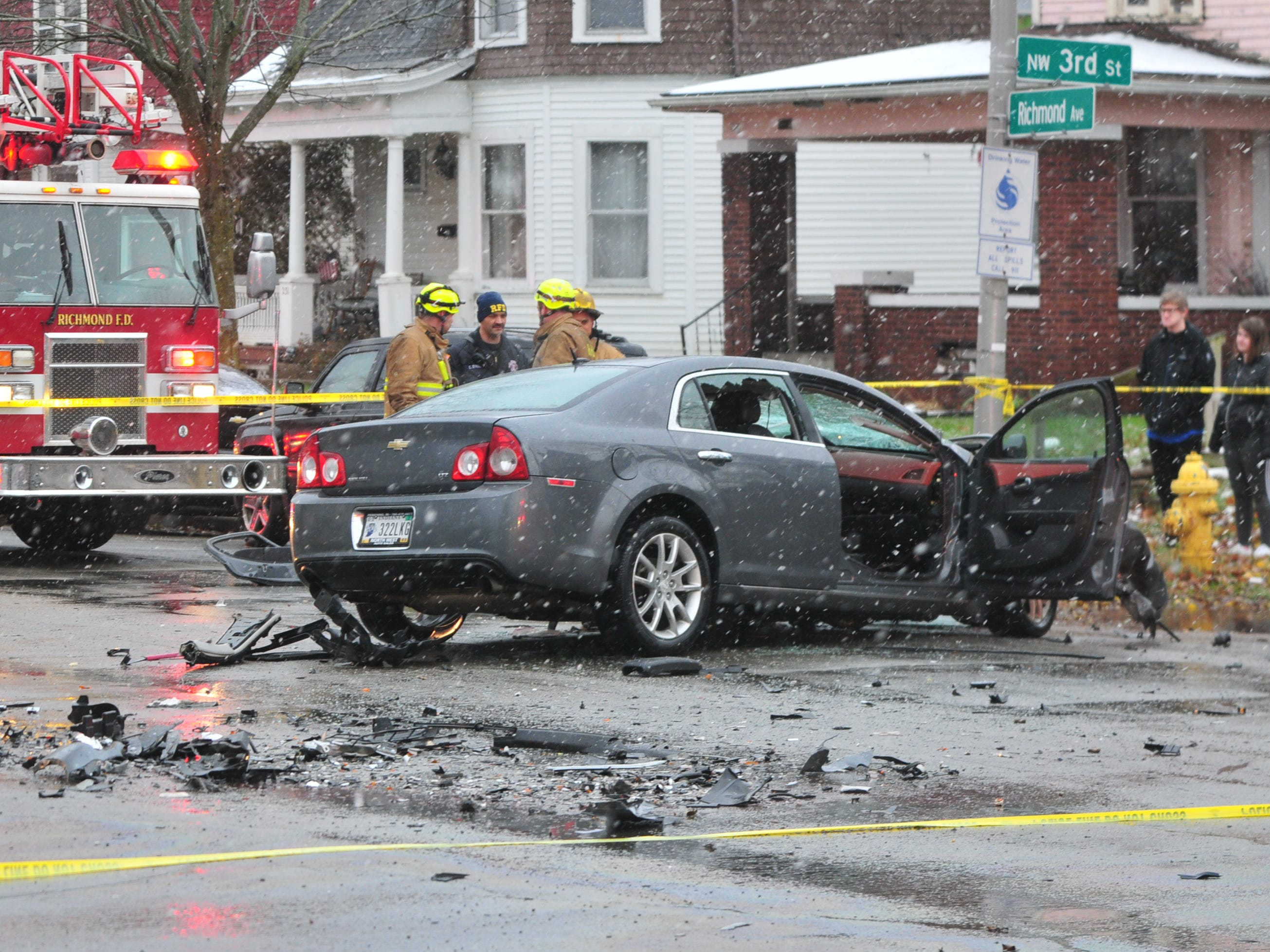A Chevrolet Malibu was involved in a two-vehicle accident Thursday on Richmond Avenue.