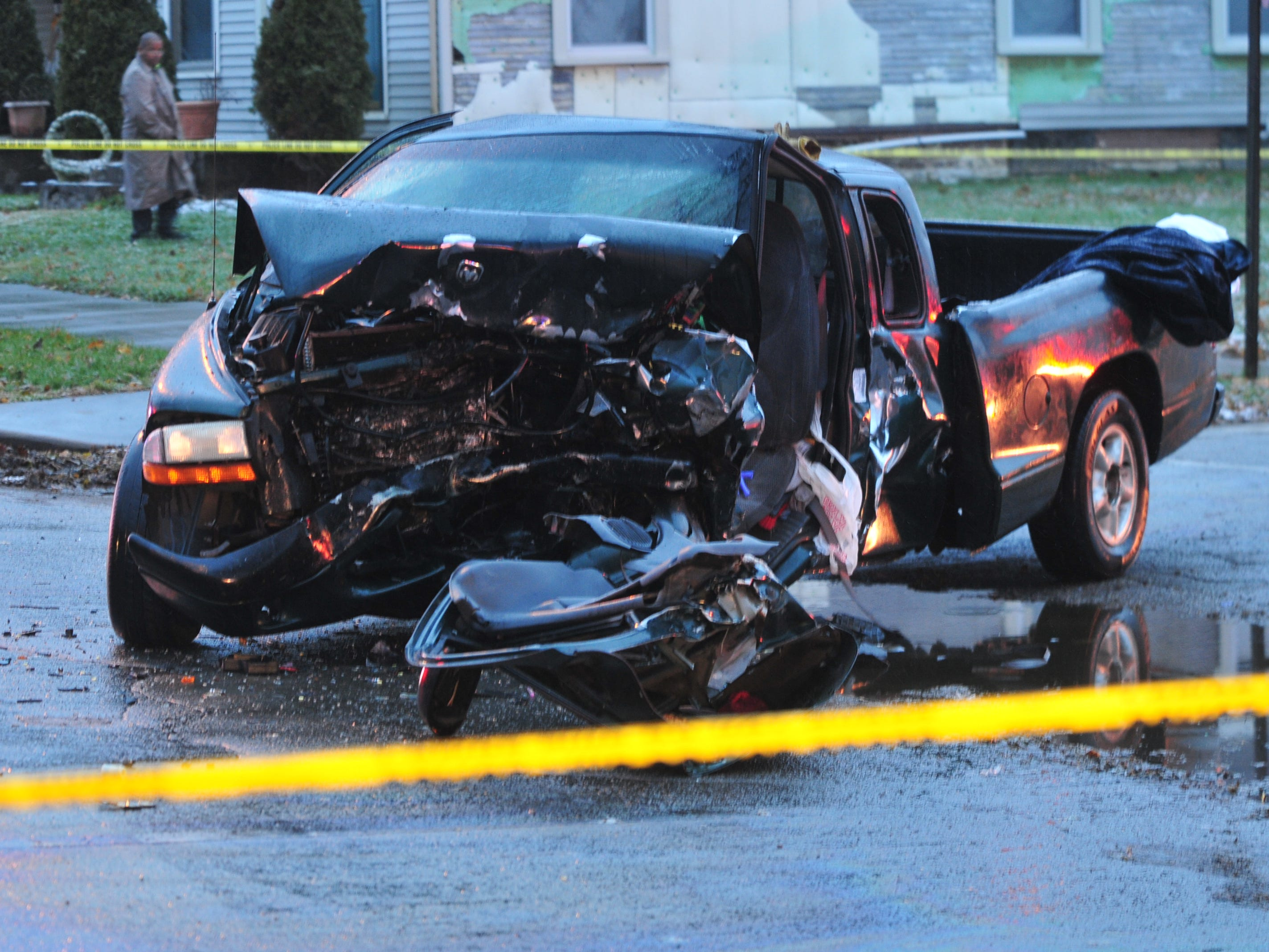 A Dodge Dakota pickup was involved in an accident Thursday on Richmond Avenue.