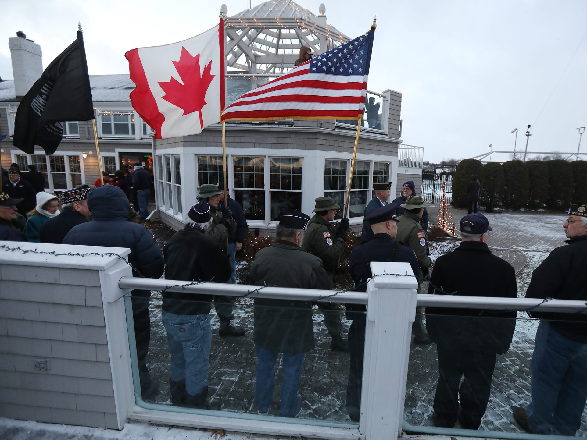 Monroe County American Legion members held a ceremony honoring the victims of Pearl Harbor at the Rochester Yacht Club.
