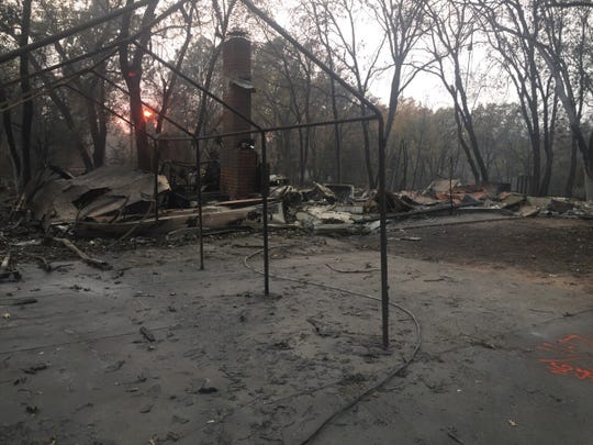 The Camp Fire destroyed the home of Kelly Goff and Time White in Paradise.