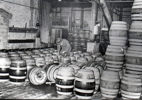The interior of the Salem Brewery Association building is seen prior to 1914. The company was forced to stop brewing beer in Salem after residents voted in favor of prohibition.