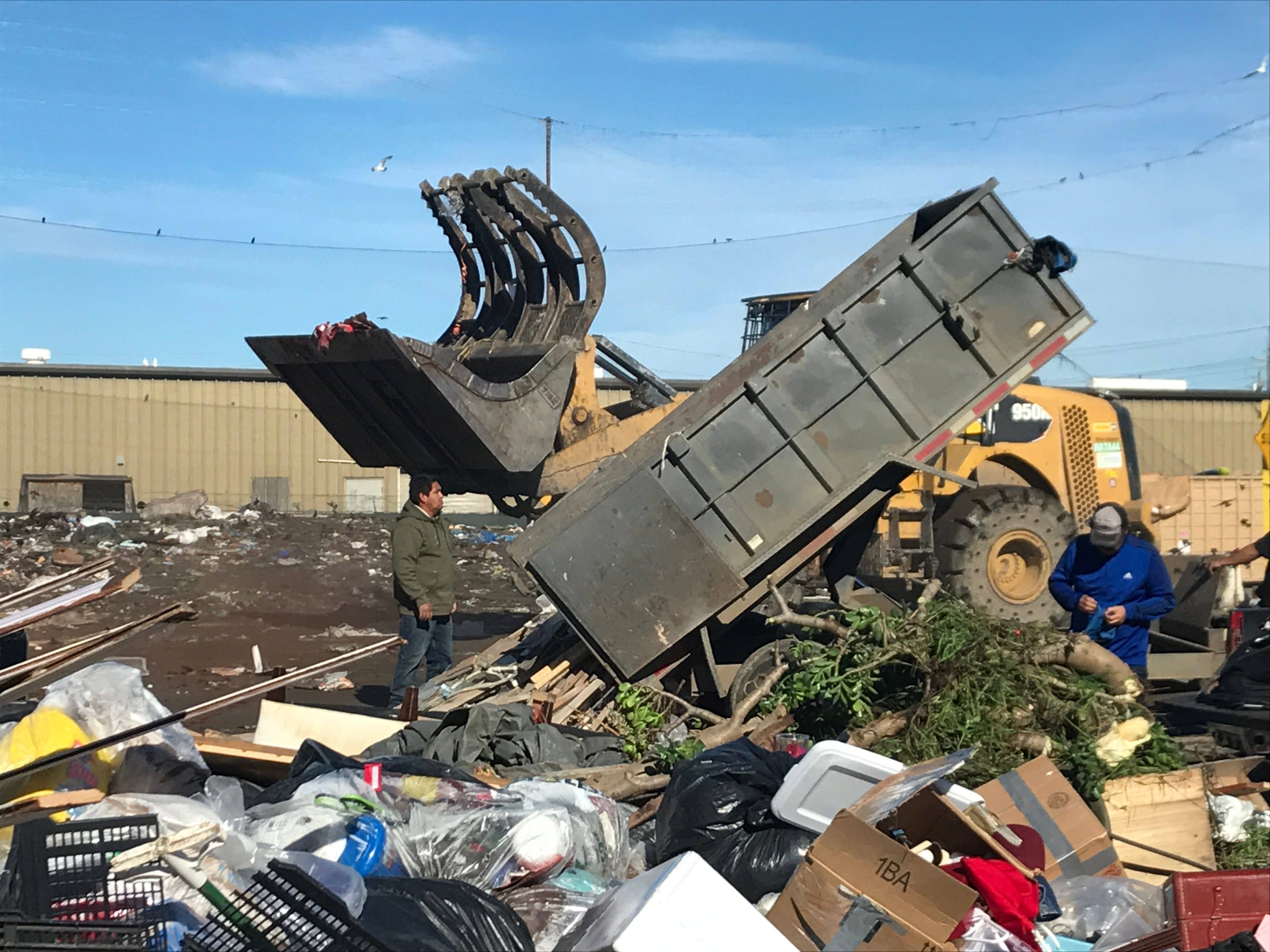 Salinas homeless man carried in waste container, dumped at garbage transfer station
