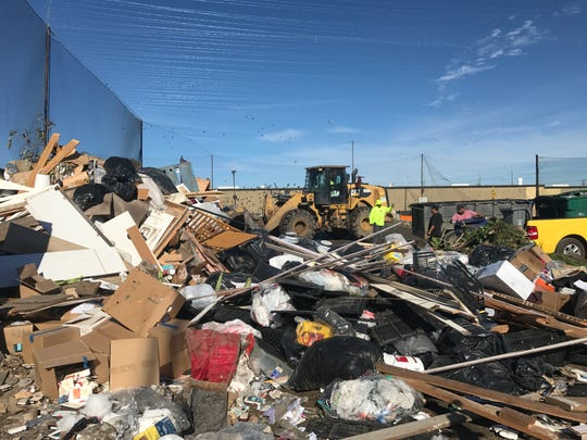 A man was picked up in a waste container and dumped at a Salinas garbage transfer station.