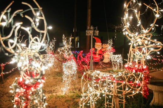 The extensive holiday display at 2110 S. Hill St. near Rio Vista Park is a San Angelo tradition.