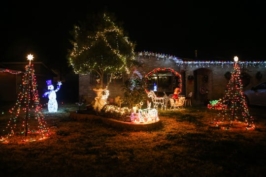 Holiday decorations light up the night at this home at 2227 Field St. in northwest San Angelo.
