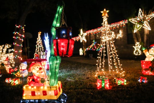 The fun display at 206 Lipan Drive in southeast San Angelo near Goodfellow AFB makes everyone smile for the joyful season.