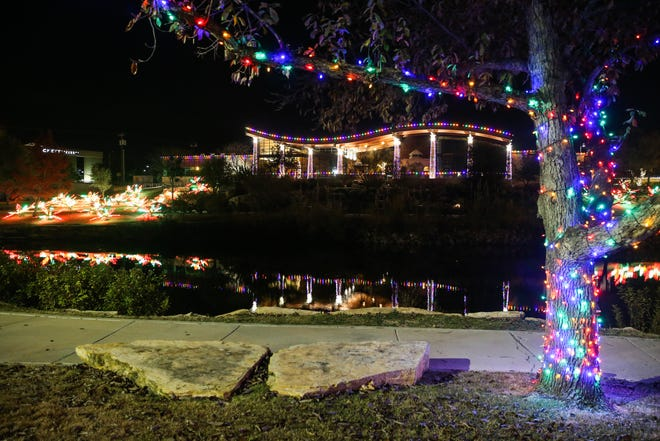 Lights bring holiday cheer to the river for the Concho Christmas Celebration Tour of Lights.
