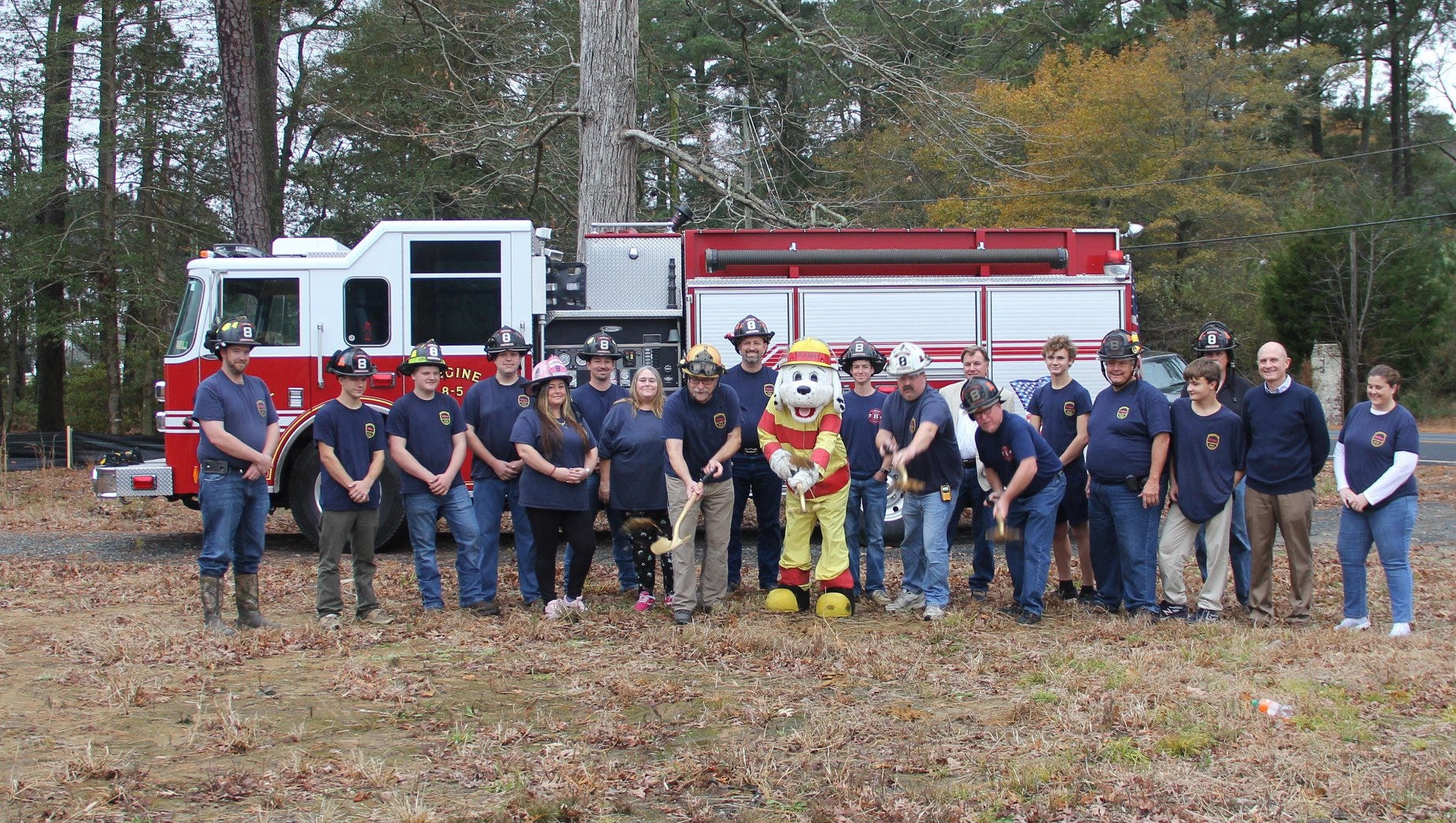 The Tasley Vol. Fire Company broke ground for its new fire station on Sunday, Dec. 2, 2018.