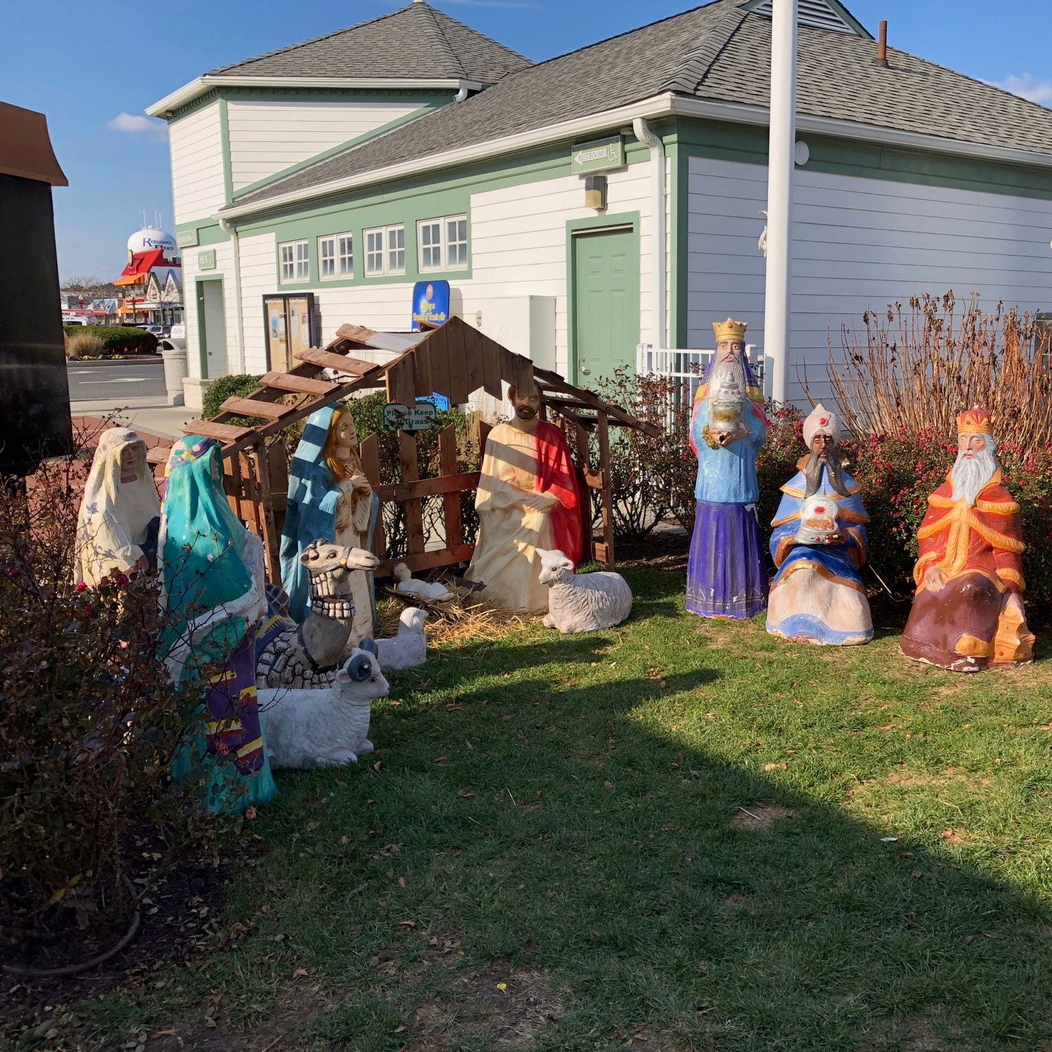 Rehoboth Beach officials and a local Catholic church disagree on whether to display a nativity scene on public property near the Bandstand.