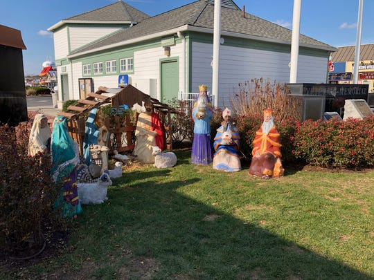 In this file photo, a Nativity scene is displayed near Rehoboth Beach Bandstand.