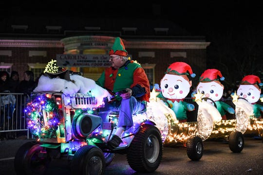 Crowds filled downtown Georgetown to watch the annual Christmas Parade on Thursday, Dec 6, 2018.