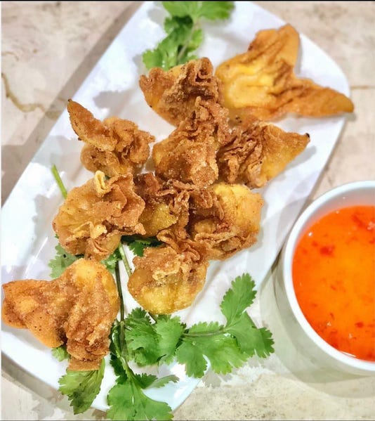 Crawfish Cream Cheese Wontons