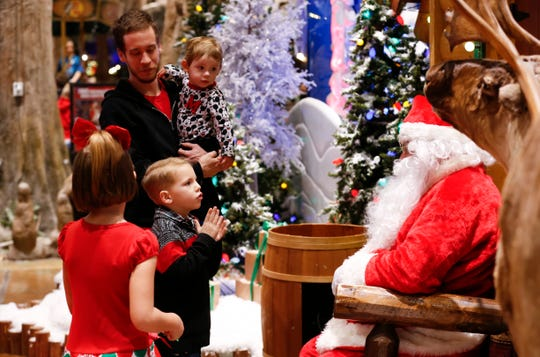More than 100 deaf and hard of hearing area students visited with a American Sign Language fluent Santa Claus at Bass Pro Shops on Friday, December 7, 2018.