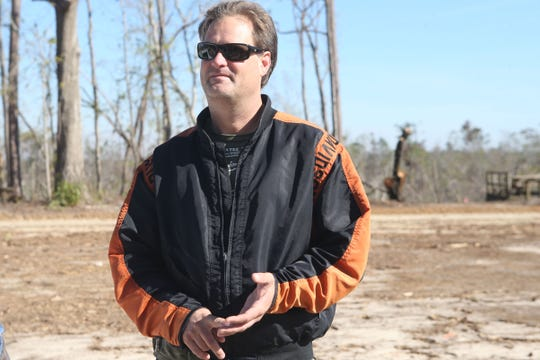 Allen Richie speaks about how he helped out state park officials with cleaning up Torreya State Park. The state park reopened on Friday, Dec. 7, 2018, almost two months after Hurricane Michael hit the panhandle.
