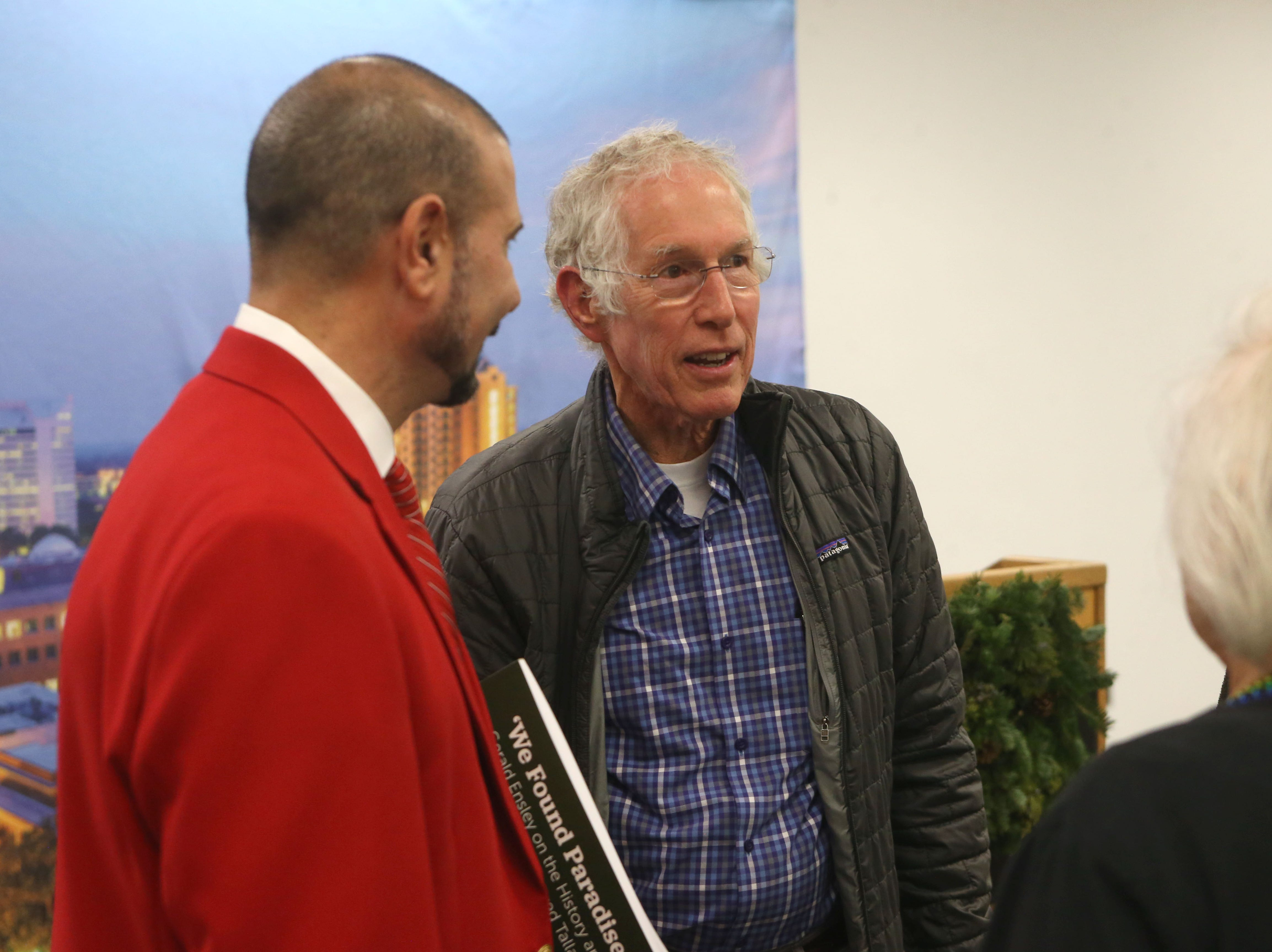 Tommy Warren, former Florida State University athlete and local civil rights attorney at a launch party held at the Tallahassee Democrat for Gerald Ensley's book, 'We Found Paradise,' Thursday, Dec. 6, 2018.