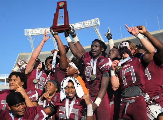 Madison County beat Baker 48-6 in a Class 1A state championship game at Orlando's Camping World Stadium on Thursday, Dec. 6, 2018.