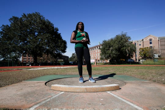 FAMU sophomore Taylor Gorum competes in the shot put, discus and hammer throw.