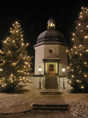 """Gruber and Mohr premiered """"Silent Night"""" at the parish of St. Nicholas in Oberndorf on Christmas Eve, 1818. T"""