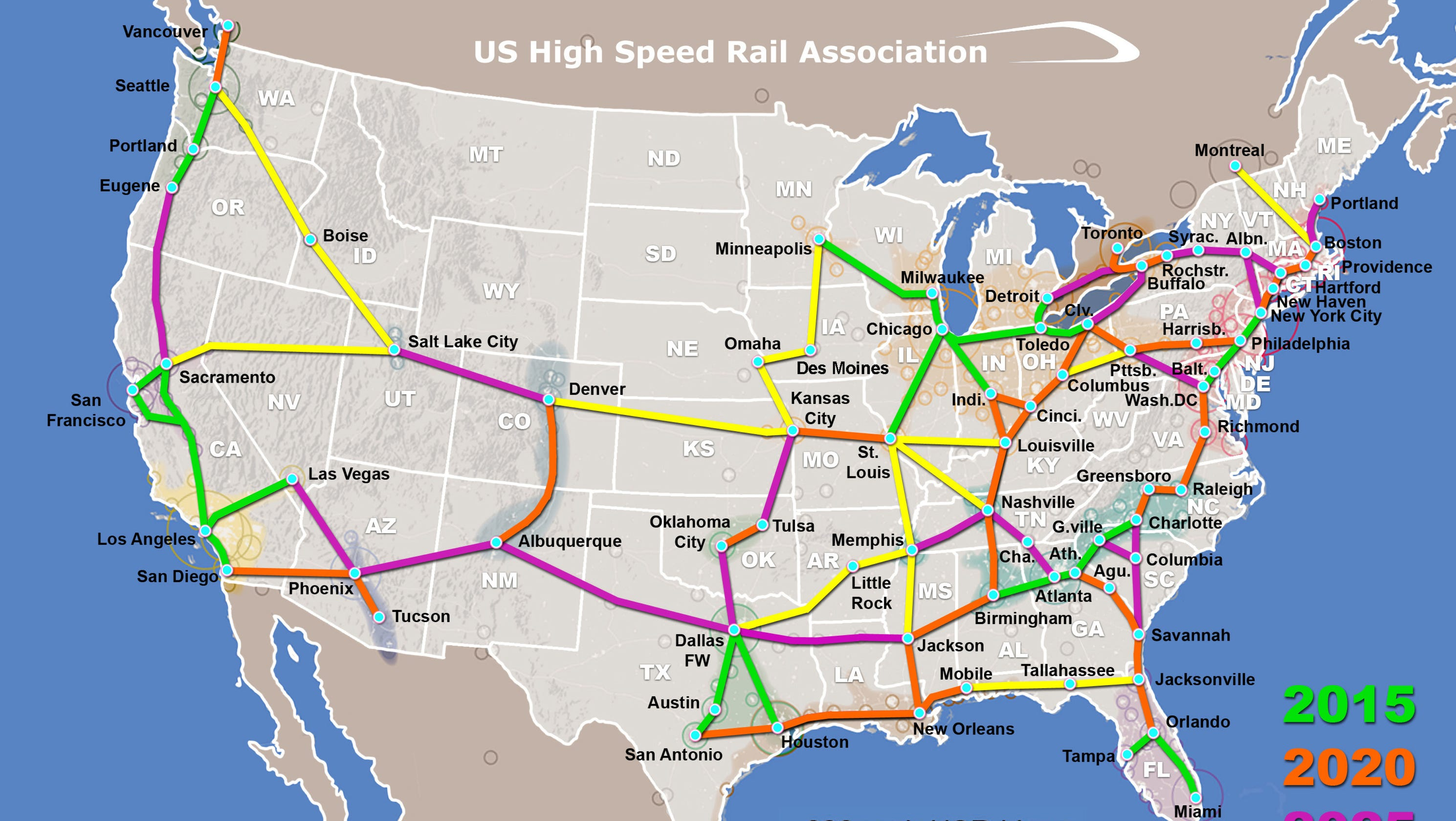 map: high speed rail possible in tallahassee