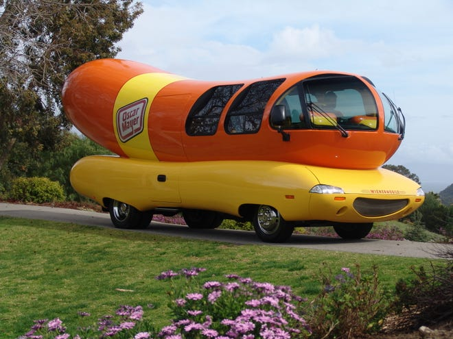 Behold the majestic wonder of the Oscar Mayer Wienermobile. This is a 2004 model.
