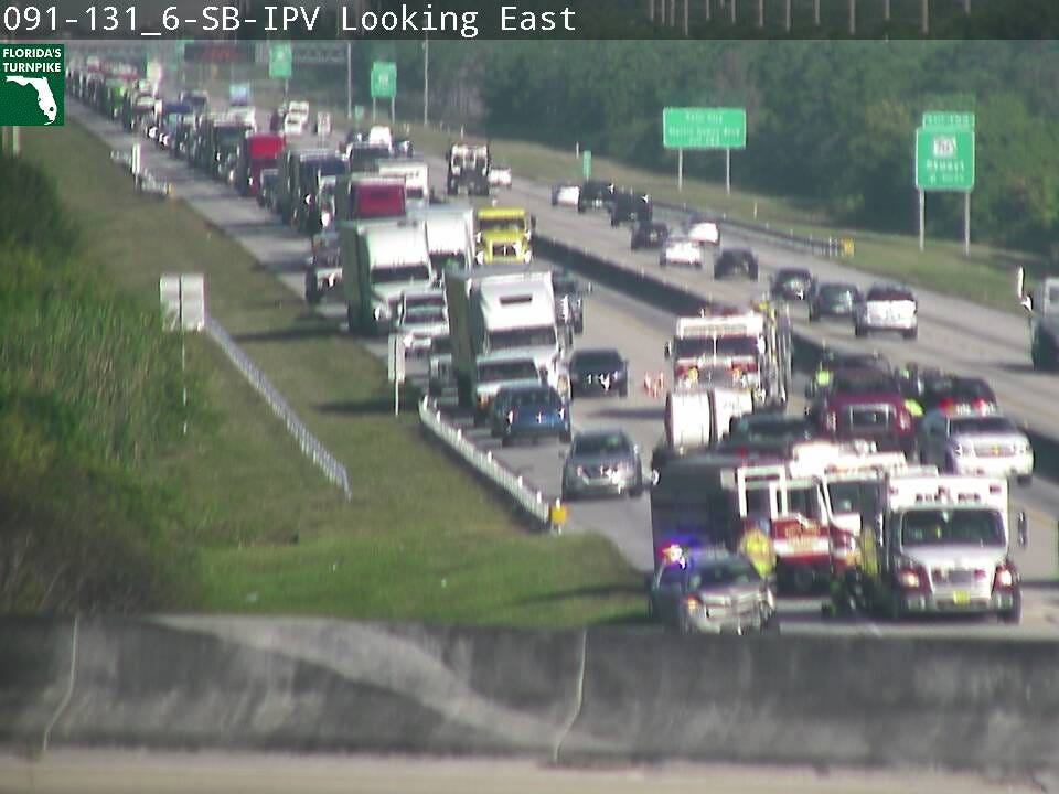 Lanes cleared after Turnpike crash near Stuart